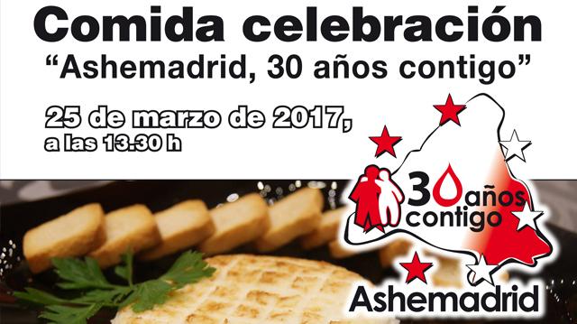 Comida celebración 30 años de ASHEMADRID
